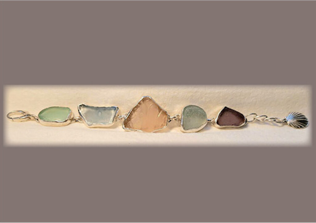 Beach Glass Bracelet by Mona Ingrid Love